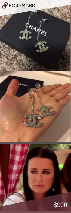 GORG Authentic Chanel CC Dazzle Dangle earrings Beautiful for weddings, showers, and going out- these AUTH CHANEL dangle earrings will surely impress! I wore them to a wedding and everyone loved them!!! Comes with box and dustbag inside box. CHANEL Jewelry Earrings