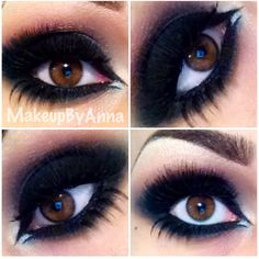 Going to do my make up similar to this tomorrow ; ✌