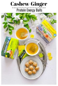 Cashew Ginger Protein Energy Balls - Perfect for Snack/Breakfast Delicious Breakfast Recipes, Snack Recipes, Dessert Recipes, Cooking Recipes, Yummy Food, Delicious Snacks, Kitchen Recipes, Dinner Recipes, Desserts