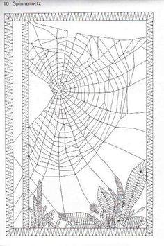 vinduesbilled, edderkoppespin uden edderkop