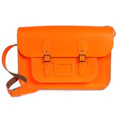 "Satchel 14"" Neon Orange"