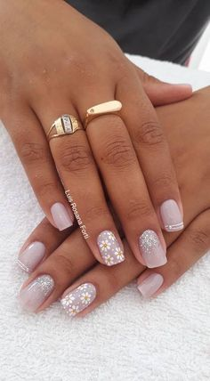 45 Melhores decorações do grupo de Unhas Decoradas Glam Nails, Beauty Nails, Cute Nails, Pretty Nails, Shellac Nails, Acrylic Nails, Short Nails Art, Flower Nails, Gorgeous Nails