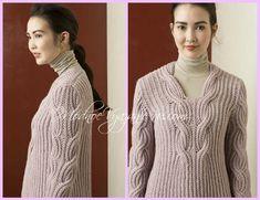 Пуловер патентным узором от LANGYARNS - Модное вязание