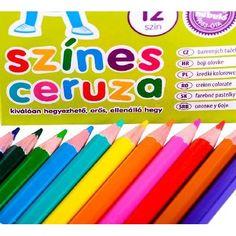 Nebuló színes ceruza készlet hatszögletű, hegyezett 12 színű - Színes ceruzák Ft Ár 379