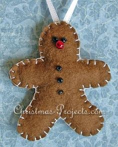 Christmas Sewing Craft - Fabric Gingerbread Ornament