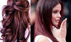 Il cherry bombre , tonalità vibranti nelle sfumature del ciliegia intrecciate tra i capelli castani e neri, è una delle tendenze più cool dei capelli!