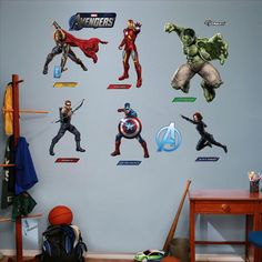 Decorate your Man cave or son's room with these fun Avengers Fatheads.  $99.99 for the whole group