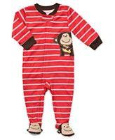 Carter's Baby Pajamas, Baby Boys Monkey Footie