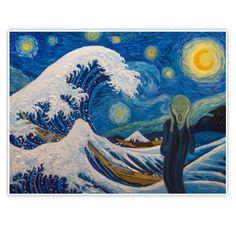 « Hokusai, munch or van gogh? Hokusai, Most Famous Paintings, Vincent Van Gogh, Sticker Design, Fine Art America, Art Pieces, Vans, Framed Prints, Drawings