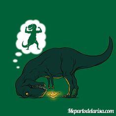 Desdeos de un Tiranosaurio REX #rex