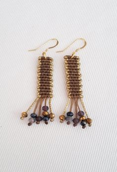 Free love - earrings | ToTonaki macrame στο jamjar