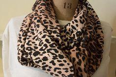 Animal print leopard print infinity scarf by MomAndMeStitch, $20.00