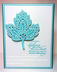 Stamping with Julie Gearinger: CAS Lighthearted Leaves with Trust God :-)