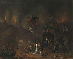 Pieter Fris - Orpheus and Eurydice in the Underworld, 1652