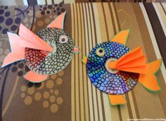 Fun+Summer+Crafts+for+Kids+-+How+to+Make+Hanging+CD+Fish?+-+Fun+with+Printer+Crafts