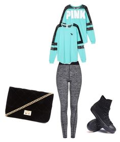 """Chill day"" by marreromateojaiani ❤ liked on Polyvore featuring Topshop, Victoria's Secret, Converse and Forever 21"