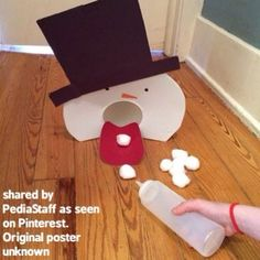 As those of you on the east coast know, winter is not over yet! Check out this fantastic idea that we saw on Pinterest that promotes isolated finger movements, Hand strengthening, visual motor coordination skills. We have looked ALL over the internet for the source of this idea and cannot find the original poster. If you are the creator of this activity, please speak up so we can link to your blog and give you credit!! Too cute!!#slpeeps #schoolslp #pediOT #occupationaltherapy ...