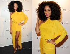 Solange in the Acne Emilie dress