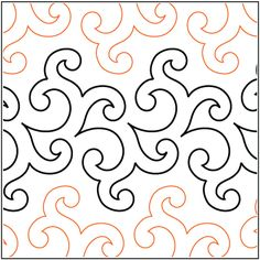 Floreale Border pantograph pattern by Patricia Ritter of Urban Elementz Quilting Stencils, Longarm Quilting, Quilting Tips, Machine Quilting Patterns, Embroidery Patterns, Quilt Patterns, Handi Quilter, Continuous Line Drawing, Velvet Quilt