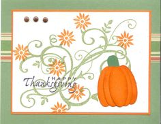 pretty Thanksgiving Card - you all DO send thanksgivng cards, right?