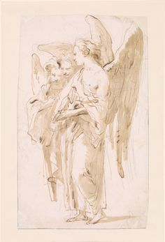 Things Lulu Likes — Giovanni Battista Tiepolo Three. Painting Inspiration, Art Inspo, Drawing Sketches, Art Drawings, Rennaissance Art, Angel Drawing, Ange Demon, Jesus Art, Figure Drawing Reference