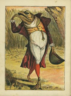 """Anthropomorphic Frog    From """"The Frog Who Would a Wooing Go"""",  """"Aunt Friendly's Picture Book"""", mid-to late 1800's.  Author: Anonymous  Illustrator Joseph Kronheim."""