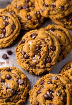 Vegan Pumpkin Chocolate Chip Cookies