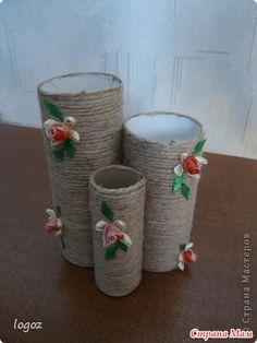Карандашница своими руками из рулонов от туалетной бумаги