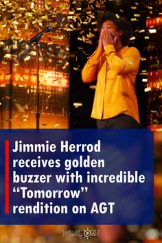 """Jimmie Herrod was in for a surprise when he chose his song to perform on the America's Got Talent stage. The singer didn't know that """"Tomorrow,"""" the famous song from the musical Annie, was Simon Cowells most hated song. The horrified judge even tried to make him change his audition song. Herrod didn't budge and amazed the crowd and Simon. #AGT #AmericasGotTalent #music #talentshow #audition #singing #amazing #song #JimmieHerrod America's Got Talent Videos, Talent Show, Audition Songs, Bad Songs, Simon Cowell, Least Favorite, Buzzer, American Singers, Annie"""
