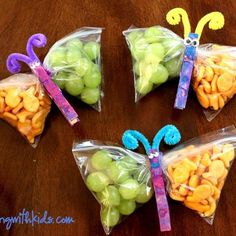 These Butterfly Snacks are perfect for lunch boxes, goodie bags, sports snacks, and more!