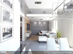 Lilia mały nowoczesny i energooszczędny dom - Jesteśmy AUTOREM - DOMY w Stylu Interior S, Conference Room, Table, Php, Furniture, Home Decor, Design, Homemade Home Decor, Meeting Rooms
