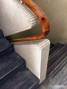 The ever impressive Gio Ponti, master of tile, at work. Palazzo Eiar in Milan, The ever impressive Gio Ponti, Interior Stairs, Interior And Exterior, Luxury Interior, Architecture Design, Staircase Architecture, Stair Handrail, Railings, Gio Ponti, Deco Design