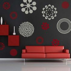 Modern Flower Bedroom Wall Decals Stickers Murals, Removable Bedroom Decals, Floral Decals For Bedroom, Wallpaper Decals for Bedroom, Bedroom False Ceiling Design, Bedroom Wall Designs, Wall Decals For Bedroom, Bedroom Wall Colors, Room Colors, Wall Painting Decor, Wall Decor, Front Wall Design, Flower Wall Decals
