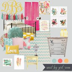 Carissa Miss: Sweet Big Girl Room Design @Tess Pias Pias Evenson