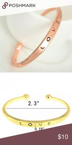 Love Bangle Bracelet - Rose Gold -Bundle And Save! Beautiful Love Bangle Bracelet - Rose Gold. All Boutique jewelry items are for $10 or 2 for $15 or 3 for $20! Jewelry Bracelets