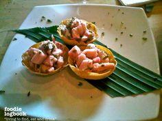 #Foodielogbook: Don Patacón, comida Panameña de autor. Cebiche de mero, rebosado en mango y leche de coco, servido en gyosas de maíz.