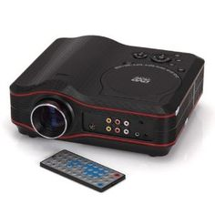 Koolertron Portable Projector 800x600 Home Theater EVD DVD MP4 RMVB Player w SD USB /S2 by Koolertron. $210.90. Description:  This projector delivers a quality picture in almost any light conditions. The  projector is also a perfect alternative for your Home Cinema. With VGA in puts,you  can watch movies from your DVD or Blue Ray.  Feature: Home Theater Portable DVD Projector With DVD,RMVB(MP5),TV,GAME,USB,SD,MMC,AV IN Use: Business, Home  Projector fi...