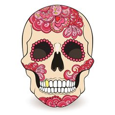 day-of-the-dead-sugar-skull-with-floral-ornament-vector-id517600217 (414×414)