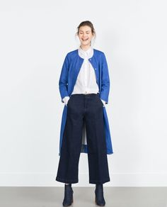 Image 1 of DENIM CULOTTES from Zara