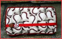 Boutique Style Diaper Travel Wipes Case - Baseball