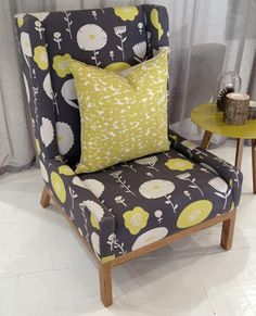 Love this chair from the Mezzanine store blog, covered in Skinny laMinx Wild Flowers print.