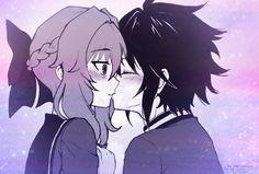 Yuu x Shinoa // Sweet Kiss by xNekomadness