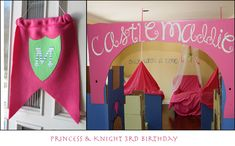 Princess and Knight Party, thinking huge castle they walk through as they come through the door! 4th Birthday Parties, Birthday Fun, Birthday Ideas, Castle Party, Knight Party, Party World, Royal Party, Princess Theme Party, Prince Birthday