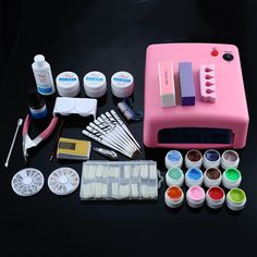 Fiso Professional 36W Pink Cure Lamp Dryer UV Gel Nail Tools Full Set Kit with UV. Click visit to buy #Nail #Tool #NailTool