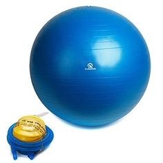 HAIQING Exercise Ball Anti-Burst Slip Resistant Yoga Ball (Swiss Ball) with Foo… HAIQING Gymnastikball Anti-Burst Rutschfester Yoga-Ball (Swiss Ball) mit Fußpumpe coreexercises. Best Resistance Bands, Resistance Band Exercises, Best Fitness Tracker Watch, Body Weight Scale, Jump Rope Workout, Stability Ball, Low Impact Workout, Core Muscles, Tone It Up