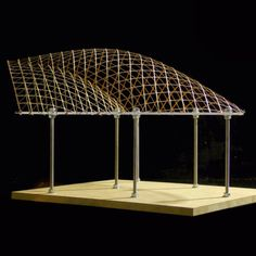 nexttoparchitects:  by @conorcoghlan Handmade, laser cut, birch ply and acrylic gridshell model. #harvardgsd #gridshell #doublegridshell #architectureschool #architecturestudent #parametric #zahahadid #patrikschumacher #freiotto #iarchitectures #superarchitects #architecturemodel #nextarch