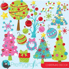 80% OFF SALE Christmas decorations clipart commercial use, christmas girls vector graphics, digital clip art, digital images - CL762