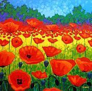 Wall art 'poppy field V'