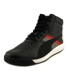 Puma Podio Mid Sf Round Toe Synthetic Sneakers, Black