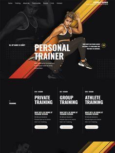 Portfolio Web Design, Portfolio Website, Personal Trainer Website, Website Home Page, Website Names, Free Website Templates, Responsive Web Design, Building A Website, Web Layout